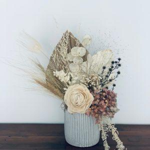Neutral Dried Arrangement in a Ceramic Pot