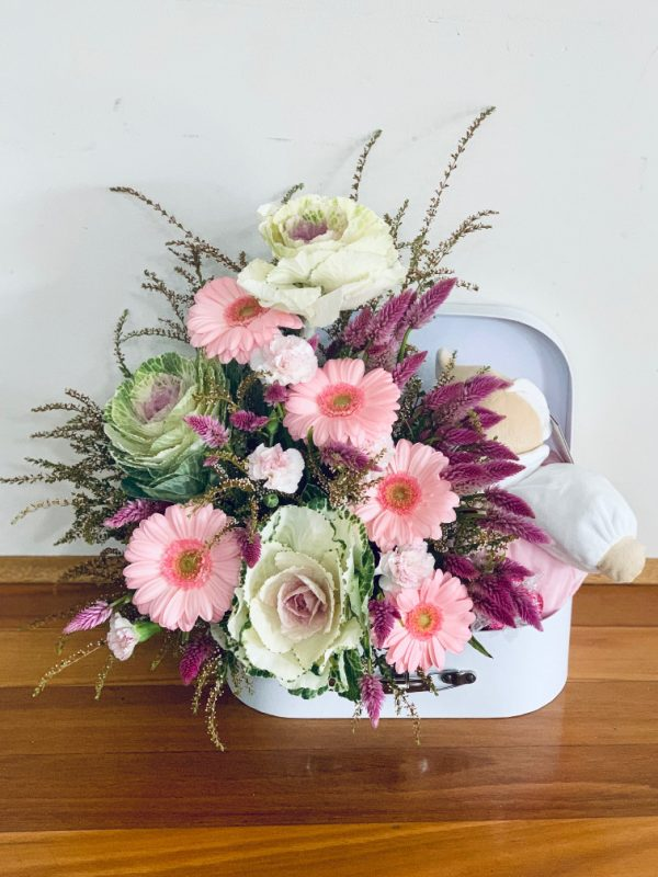 Flower Teddy Suitcase