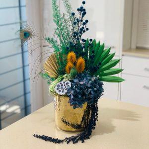 Colourful Dried Arrangement in Ceramic Pot