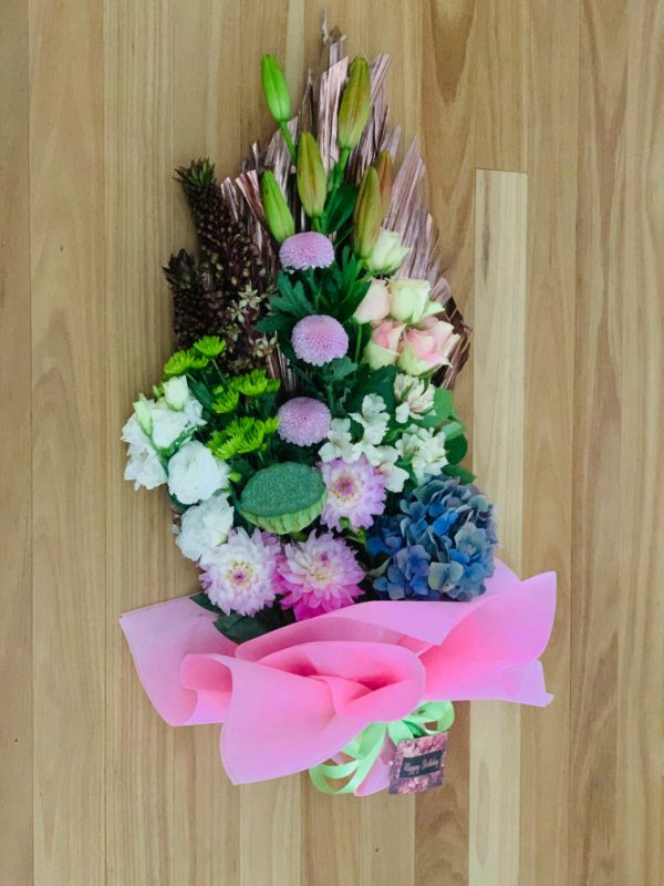 Deluxe Mixed Bouquet on Palm Leaf