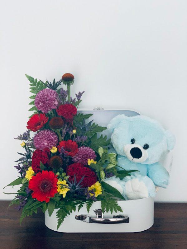 Flower TeddySuitcase