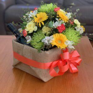 Flower and Wine Box
