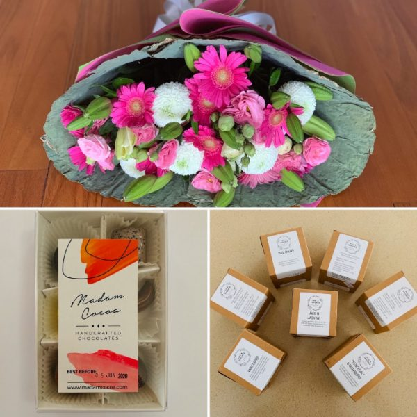Flowers, Chocolate and Tea Combo