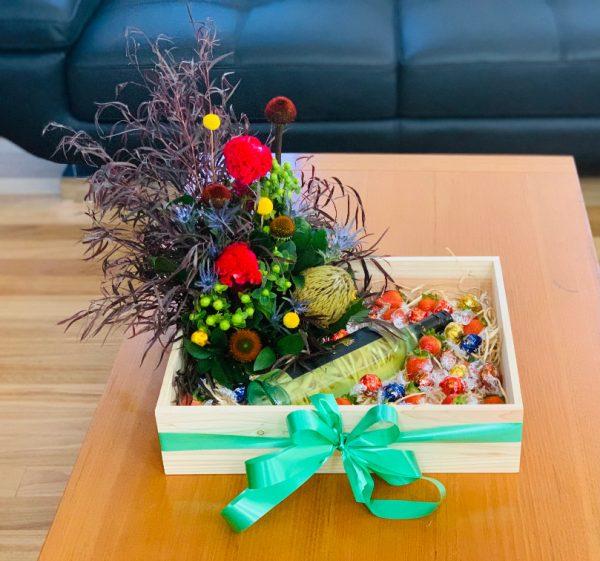 Flowers, Chocolates, Strawberries and Wine Gift Box