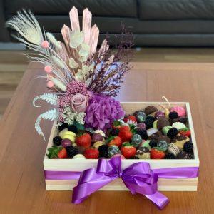 Sweet Treats and Dried Flower Arrangement Box