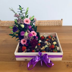 Sweet Treats and Fresh Flowers Box