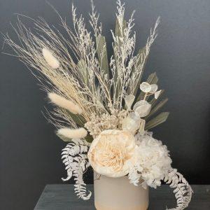 Neutral Wooden Flower Dried Arrangement