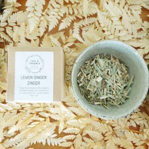 Lemon Ginger Zinger tea single use
