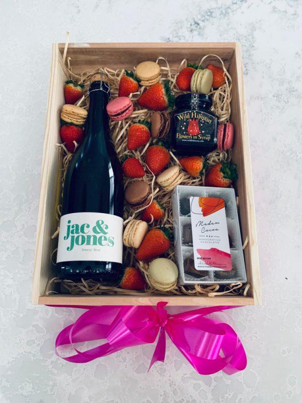Champagne Gift Box with Jac & Jones Wine