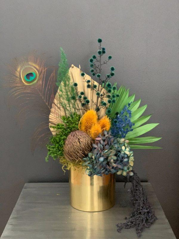 Colourful Dried Flower Arrangement