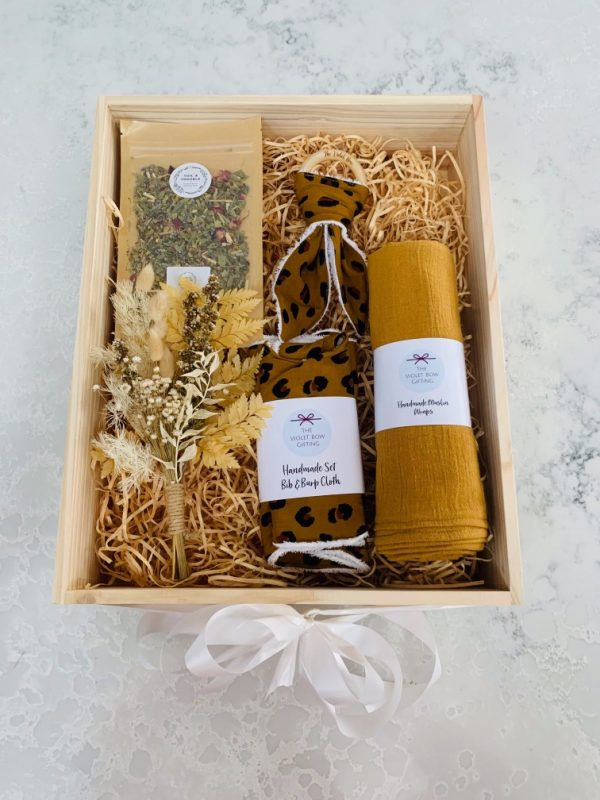 Baby Gift Box Flowers and Tea